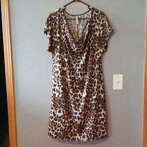 Animal print shift dress